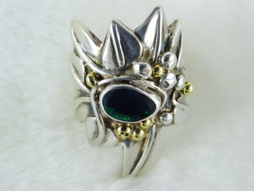 Dark Intrigue Opal Ring Side Above