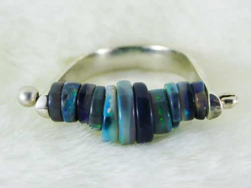 Handmade Opal Ring - Mystique Motion Ring 1