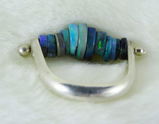 Handmade Opal Ring - Mystique Motion Ring 2
