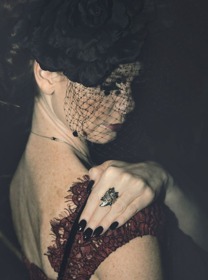 Jewellery Designer Jo Michelle with Dark Intrigue Custom Ring