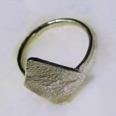 Sterling Silver Diamond Token Ring Photo 4
