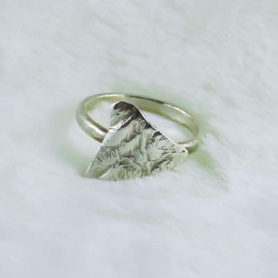 Handmade Sterling Silver Kite Token Ring Photo 3