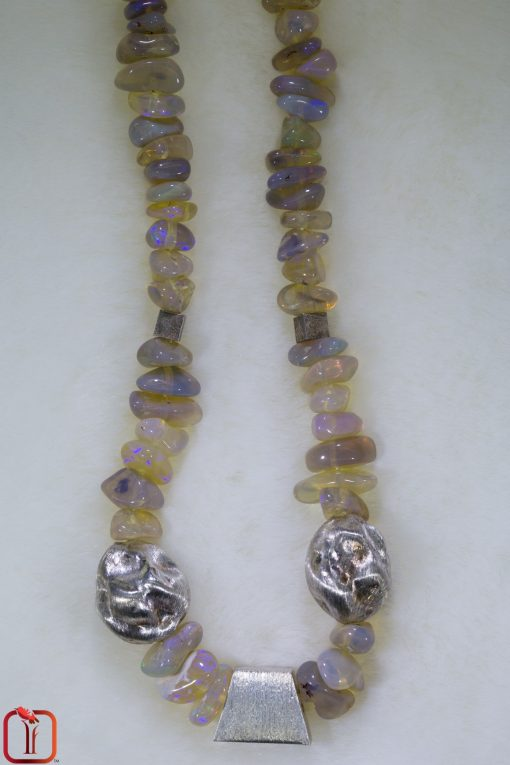 Handmade Jewellery - Honey Opal Beaded Necklace Photo 1