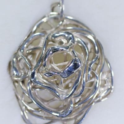 Handmade Jewellery - Threads Of Sterling Silver Pendant