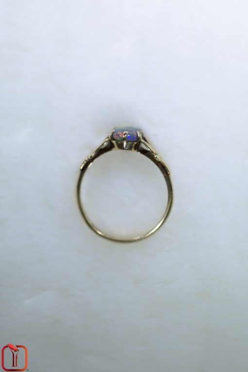 Vintage 9ct Gold Handmade Opal Ring Photo 5