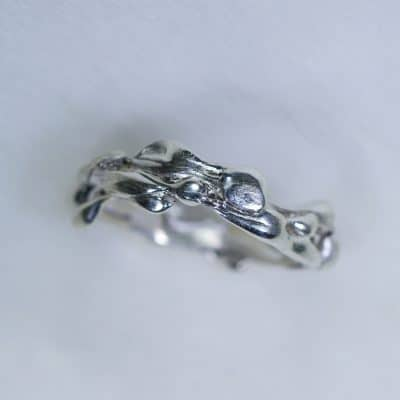 Sterling Silver Friendship Ring - Organic Sculptured Ring