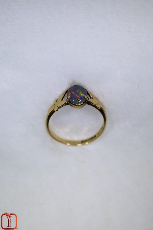 Vintage 9ct Gold Handmade Opal Ring Photo 4