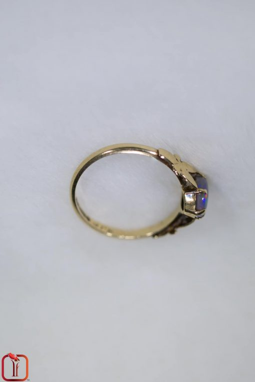 Vintage 9ct Gold Handmade Opal Ring Photo 3