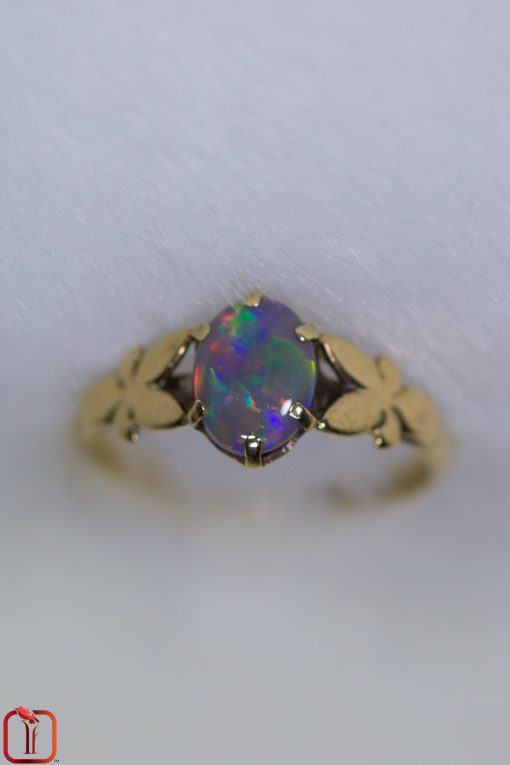 Vintage 9ct Gold Handmade Opal Ring Photo 2