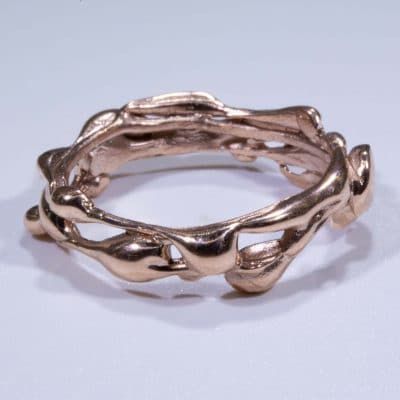 Rose gold ring pink gold ring