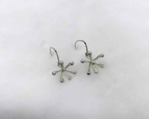 Sterling Silver Native Tree Seed Pod Earrings