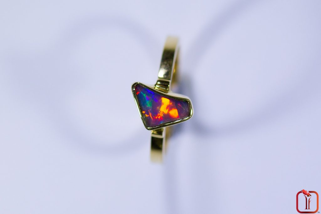 Opal ring from Tiger Finch Jewellery collection