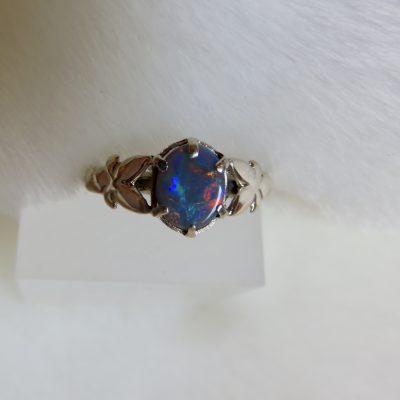 Butterfly opal ring